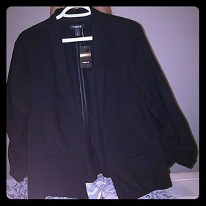 Black deluxe stretch blazer